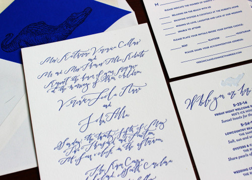 alligator-crocodile-envelope-liner-blue-calligraphy-script-letterpress-wedding-invitation