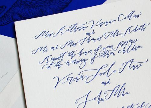 alligator-crocodile-blue-calligraphy-letterpress-wedding-invitation