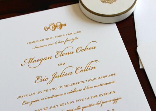 italian-english-gold-heart-script-letterpress-wedding-invite