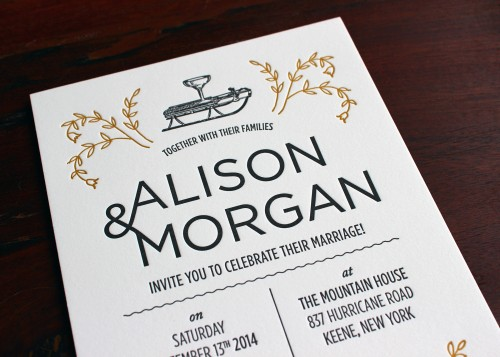 floral-ampersand-gold-black-letterpress-wedding-invitation
