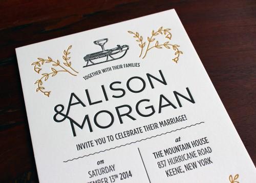 floral-ampersand-gold-black-letterpress-wedding-invitation