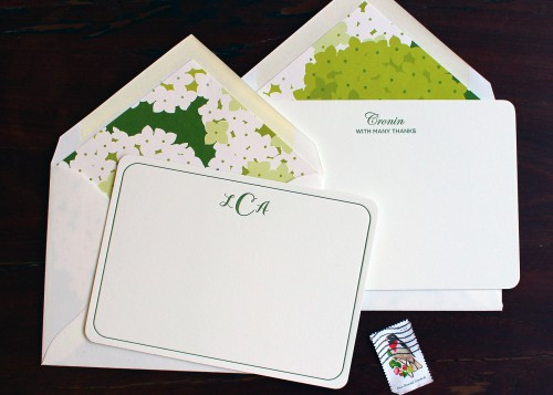 green-floral-lined-envelope-letterpress-custom-stationery