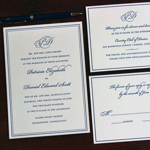 navy-blue-monogram-border-elegant-letterpress-wedding-invitation