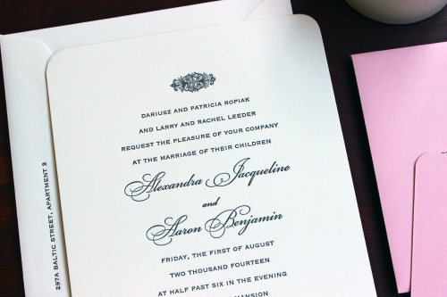pink-script-letterpress-wedding-invitation