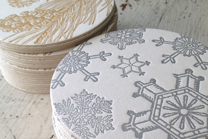 sesame-letterpress-holiday-coasters-silver-snowflake