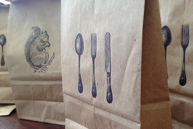 sesame-letterpress-lunchbags-doggy-bags-thanksgiving-leftovers