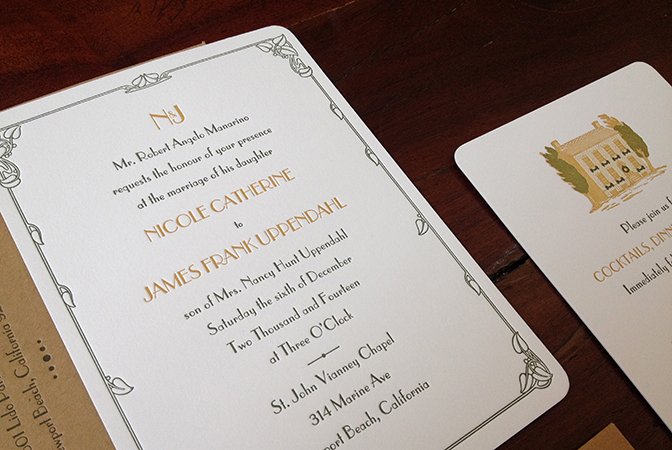 gold-green-art-nouveau-california-wedding-sesame-letterpress