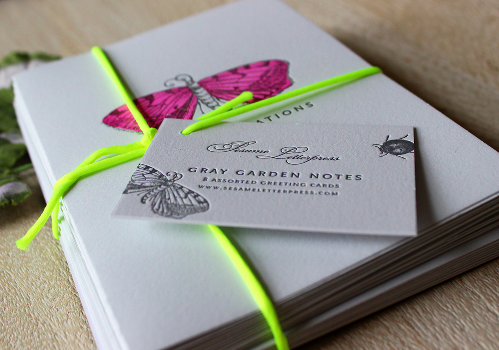 Gray-Gardens-letterpress-card-set-bugs-butterfly-floral