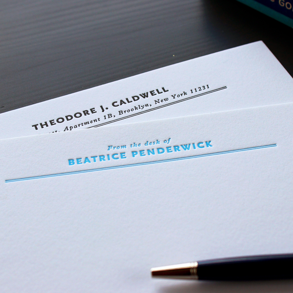Vintage Office Letterpress Stationery