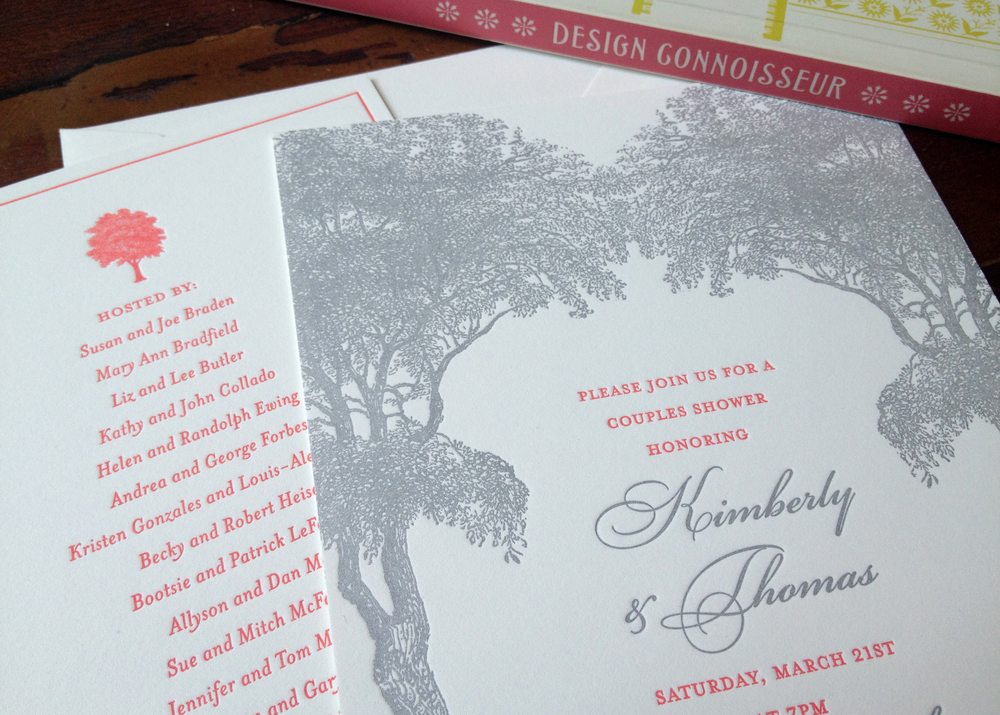 Letterpress bridal shower invitations sesame letterpress design wine tasting at a bridal shower sounds like such a treat this invitation marries bright colors with a classic somewhat formal design filmwisefo