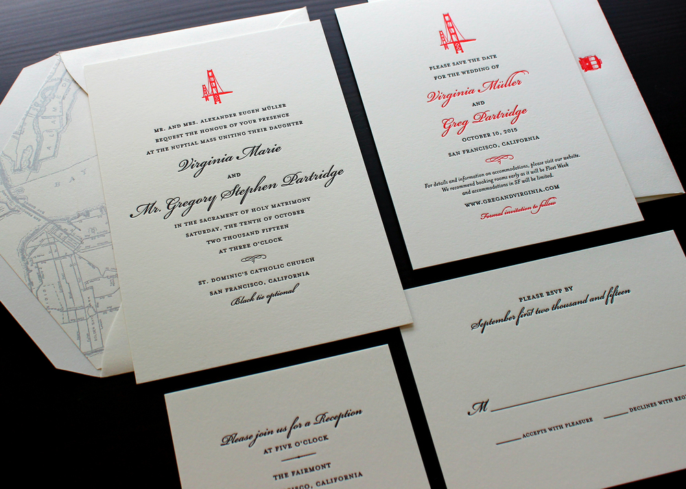 Sesame letterpress blog sesame letterpress design for Letterpress wedding invitations san diego