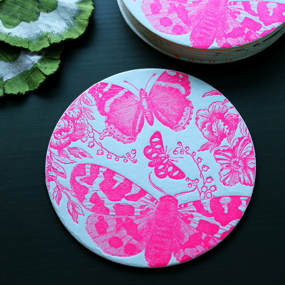 Letterpress-Pink-Butterfly-Floral-Coaster.jpg