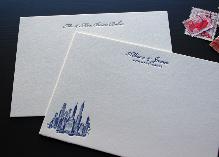 Post Wedding Thank You Notes Sesame Letterpress Design