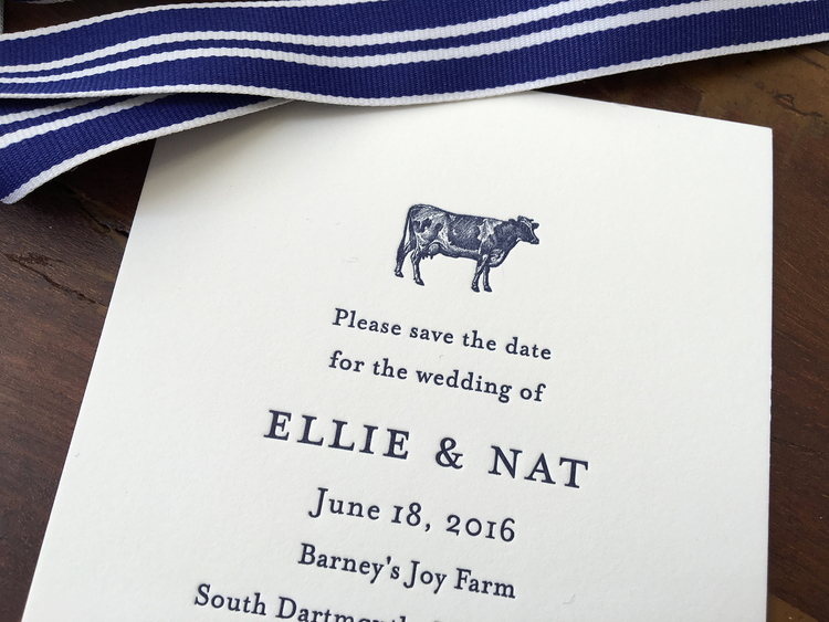 Favorite Massachusets Farm Wedding — Sesame Letterpress + Design TH71