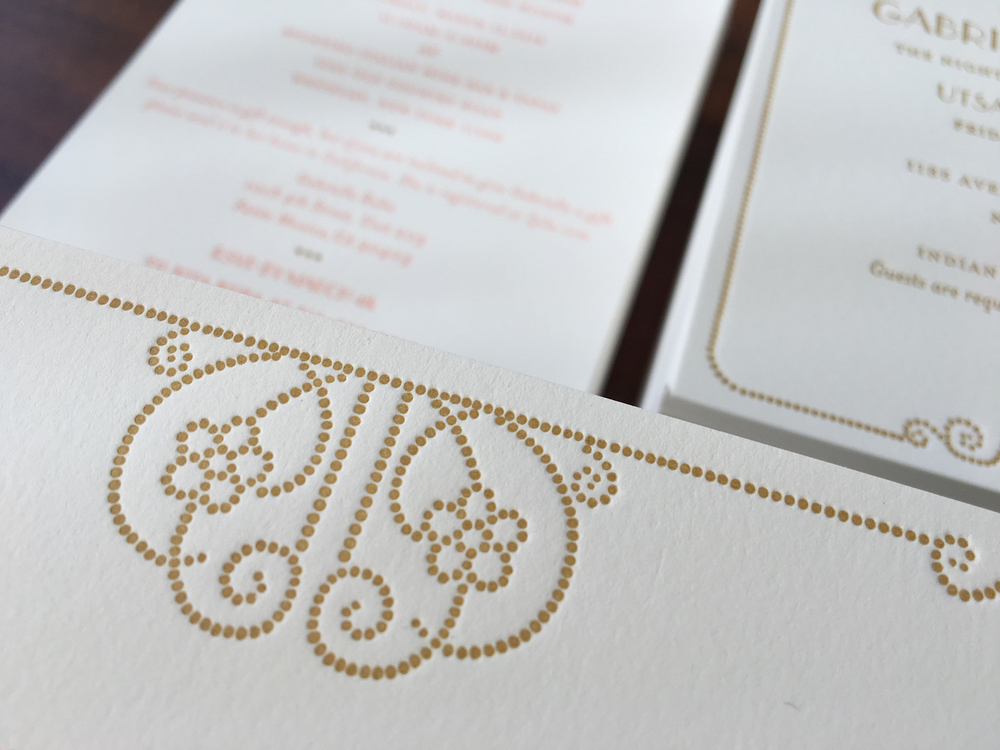 Peach-Gold-Letterpress-Wedding-Vintage-Deco-Dots