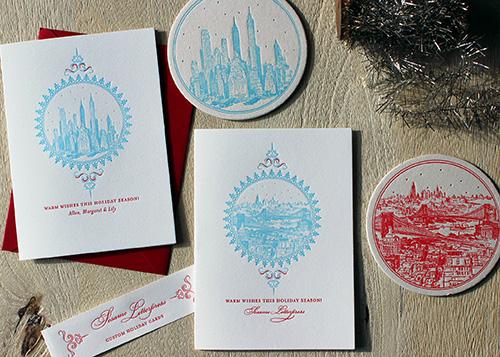 Custom holiday cards for 2016 sesame letterpress design m4hsunfo