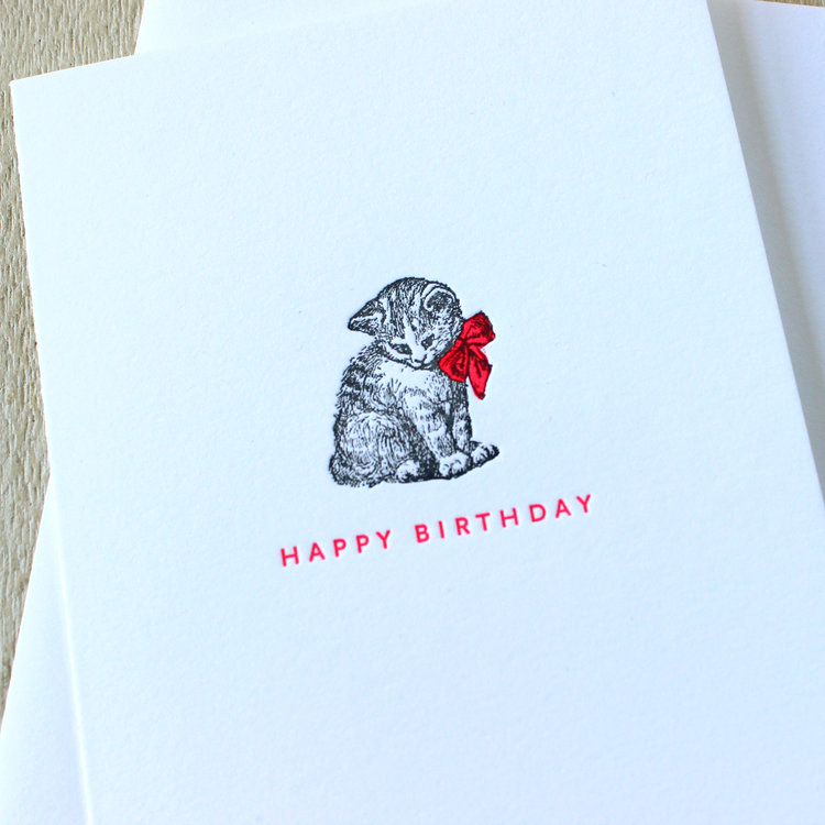 New Greeting Cards Sesame Letterpress Design