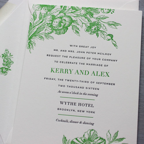 Invitation help sesame letterpress design brides parents hosting stopboris Images