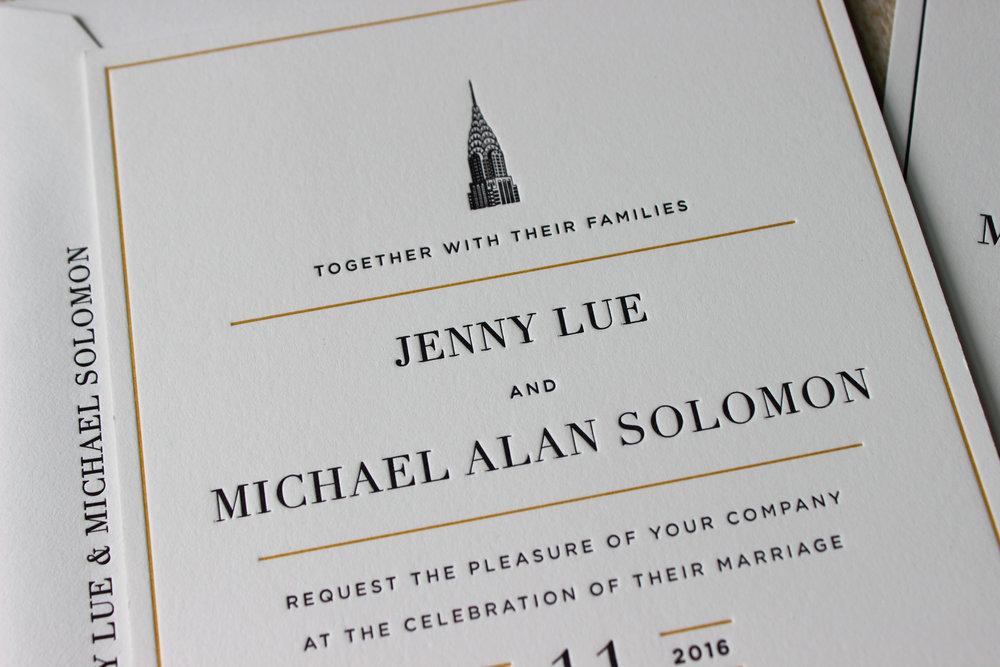 Black-Gold-Vintage-NYC-Letterpress-Wedding-Invitation