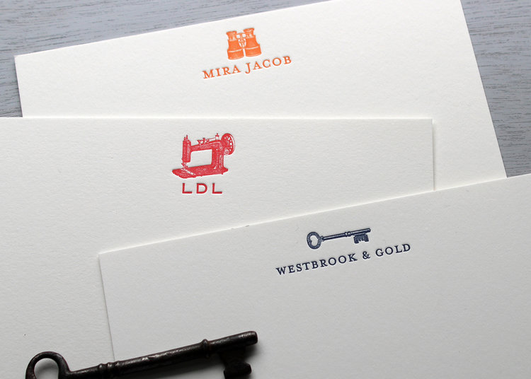 new custom stationery sesame letterpress design