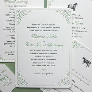 Bespoke Wedding Stationery Sesame Letterpress Design