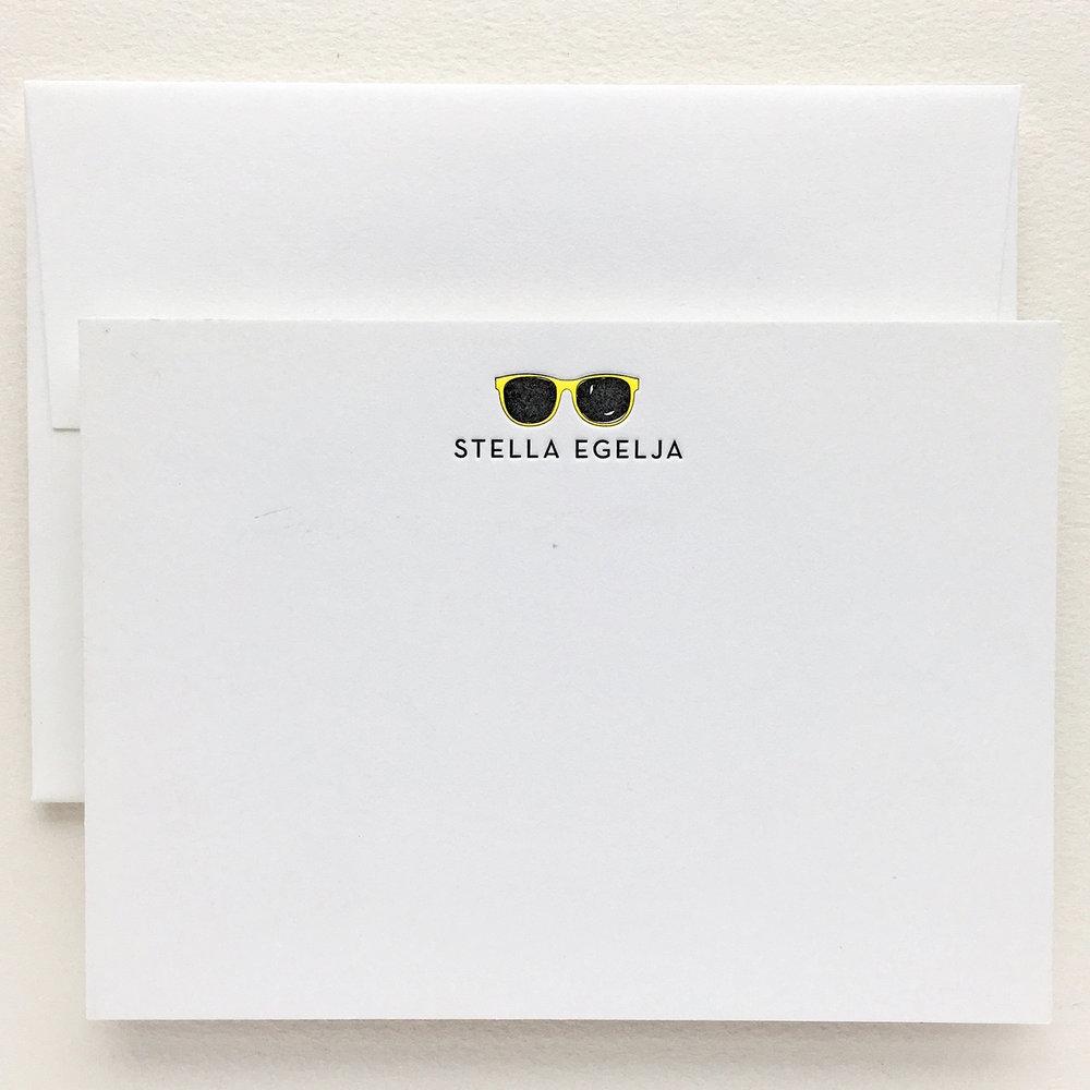 Custom letterpressed Note card