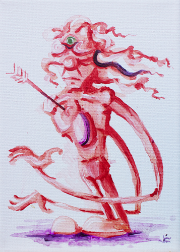 10.2.13  > Jester > Symphony > 5x7 inch Acrylic Painting on canvas > CLICK IMAGE TO PURCHASE