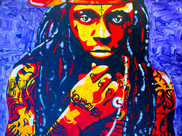 10.18.12  > Postman > 24x18 inch Acrylic Painting on canvas > CLICK IMAGE TO PURCHASE