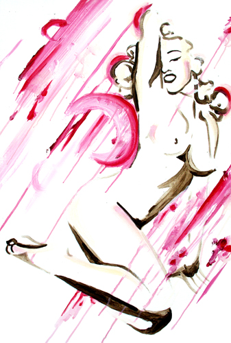 4.7.11  > Soular Seduction > 24x36 inch Acrylic Painting on canvas > CLICK IMAGE TO PURCHASE