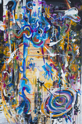 7.19.13  > Falling > 48x72 inch Acrylic Painting on canvas > NOT AVAILABLE FOR PURCHASE