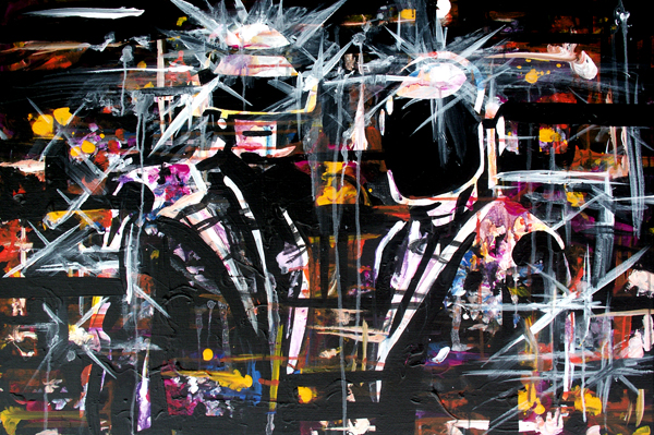 6.22.13  > Future Sounds > 36x24 inch Acrylic Painting on canvas >  NOT AVAILABLE FOR PURCHASE