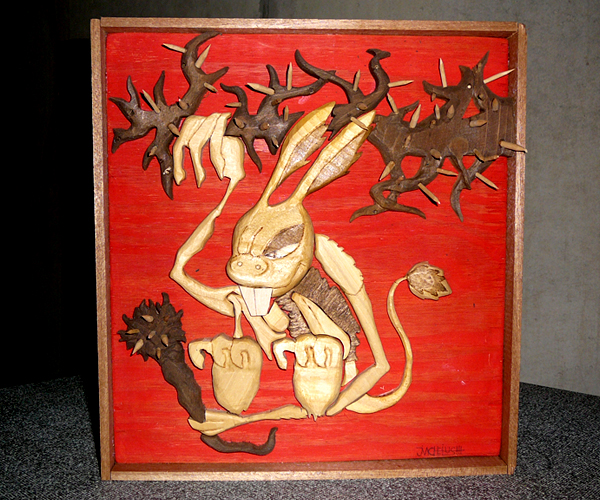 12.28.12  > The Hare > Highschool CLassics > Wood Sculpture > NOT AVAILABLE FOR PURCHASE
