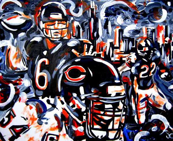 5.17.12 > Da Bears > 20x16 inch Acrylic Painting on canvas > NOT AVAILABLE FOR PURCHASE