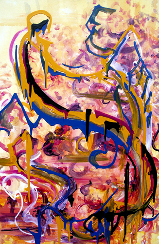 3.5.12 > Freedom > The Grand Perception > 24x36 inch Acrylic Painting on canvas. Live Painted 2.15.12 > CLICK IMAGE TO PURCHASE