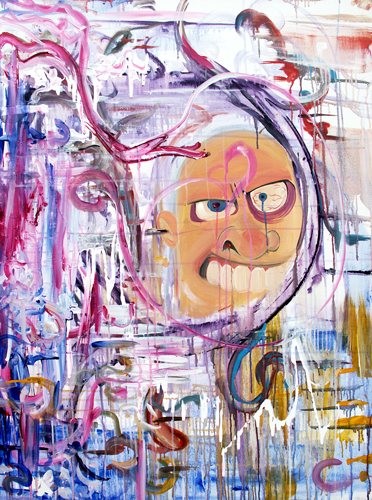 3.15.12 > Collaboration with Kiska Zilla I > 36x48 inch Acrylic Painting on canvas. Live Painted. > CLICK IMAGE TO PURCHASE