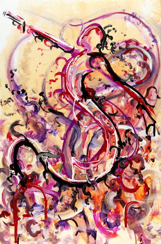 3.19.12 > Hate > The Grand Deception > 24x36 inch Acrylic Painting on canvas. Live Painted 3.7.12. > CLICK IMAGE TO PURCHASE