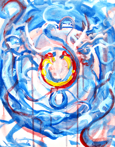 12.17.11  > Cyclical Freedom > 14x18 inch Acrylic Painting on canvas > NOT AVAILABLE FOR PURCHASE