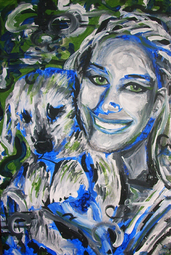 9.3.11  > Shine For Two > 24x36 inch Acrylic Painting on canvas > NOT AVAILABLE FOR PURCHASE