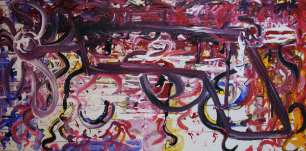 10.23.10  > Velvet Hands > 48x24 inch Acrylic Painting on canvas. Live Painted 10.20.10. > NOT AVAILABLE FOR PURCHASE