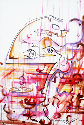 9.30.10  > Eyes Over Fear > 24x36 inch Acrylic Painting on canvas. Live Painted 9.25.10. > NOT AVAILABLE FOR PURCHASE