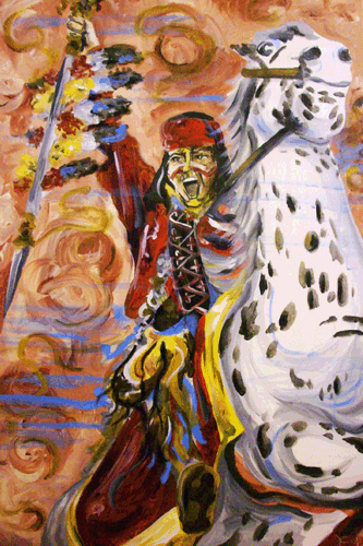3.2.10  > The Chief > 24x36 inch Acrylic Painting on canvas > NOT AVAILABLE FOR PURCHASE