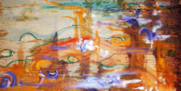 2.24.10  >   Eye Witness > 48x24 inch Acrylic Painting on wood. Live Painted 2.16.10. NOT AVAILABLE FOR PURCHASE