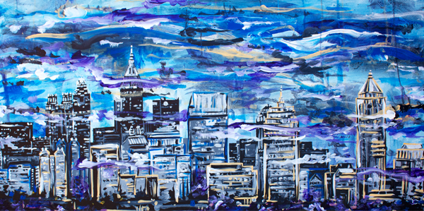 8.27.14  > Atlanta > 48x24 inch Acrylic Painting on canvas >  NOT AVAILABLE FOR PURCHASE