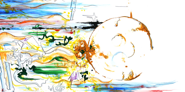 10.14.09  > The Western Worlds > 48x24 inch Acrylic Painting on canvas > CLICK IMAGE TO PURCHASE
