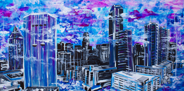 8.31.14  > Buckhead > 48x24 inch Acrylic Painting on canvas > CLICK IMAGE TO PURCHASE