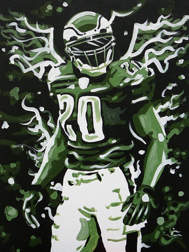 1.14.15  > Weapon X > 18x24 inch Acrylic Painting on canvas >  NOT AVAILABLE FOR PURCHASE