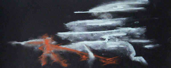 9.4.09  > Reach Out > Pastel on paper > NOT AVAILABLE TO PURCHASE