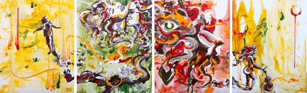 "Original Acrylic Painting Series for ""Soul Rebel"""