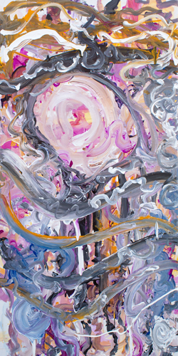 4.8.14 > The Conductor > 24x48 inch Acrylic Painting on canvas > CLICK IMAGE TO PURCHASE