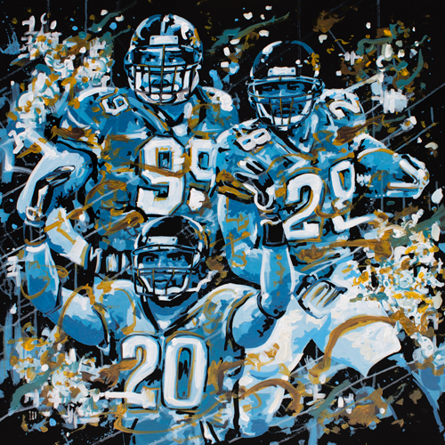 6.3.15  > Jags > 36x36 inch Acrylic Painting on canvas > CLICK IMAGE TO PURCHASE